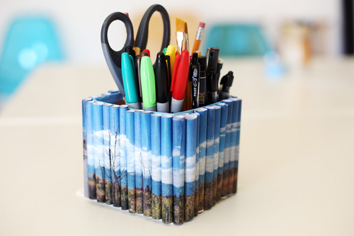 DIY Spruce Up Your Desk With A Photo Pencil Holder Our